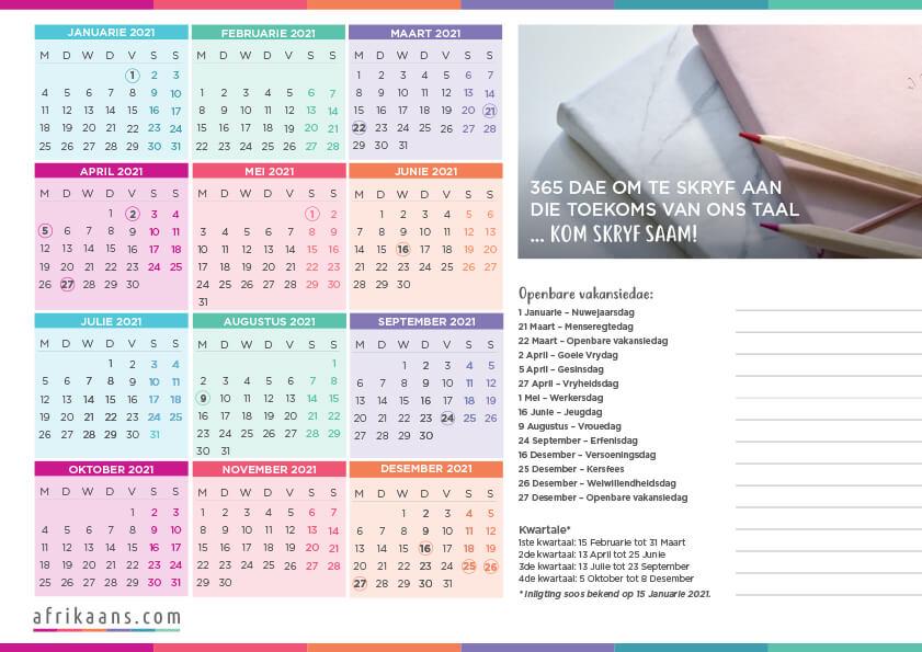 2021 Kalender